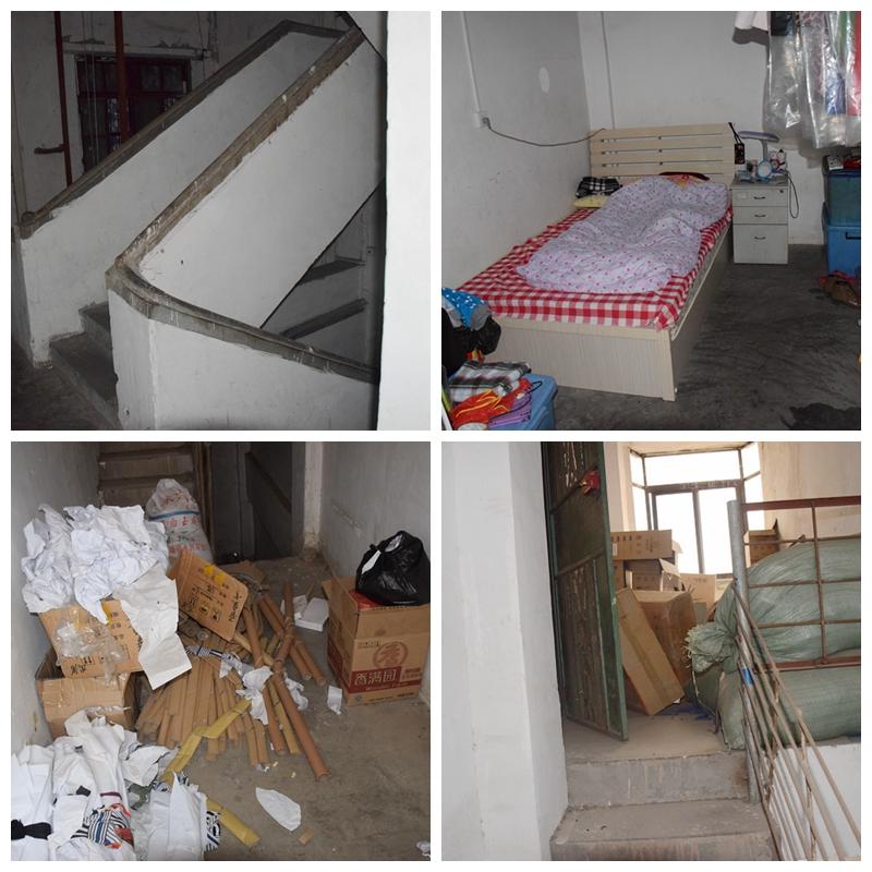 梅江区一加工厂违规设施员工宿舍、未设置封闭楼梯间、占用疏散通道